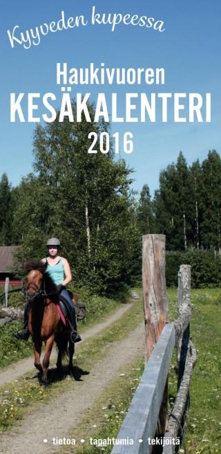 Haukivuoren kesäkalenteri 2016 kansi